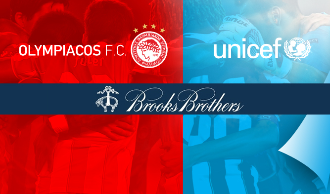 Brooks Brothers & l'Olympiacos pour l'UNICEF!