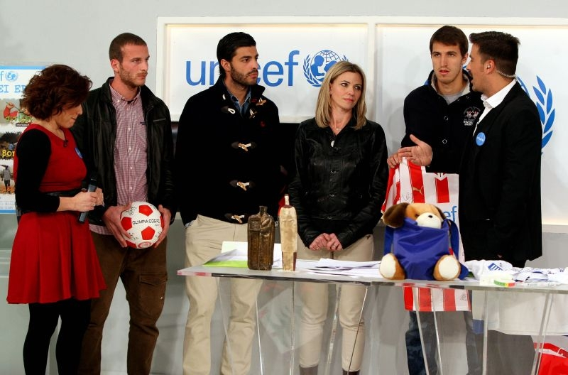El Olympiacos en la Telemaratón de Unicef