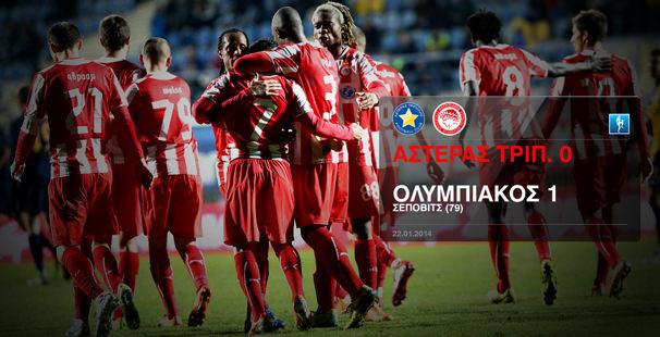 Αστέρας Τρίπολης – Ολυμπιακός 0-1