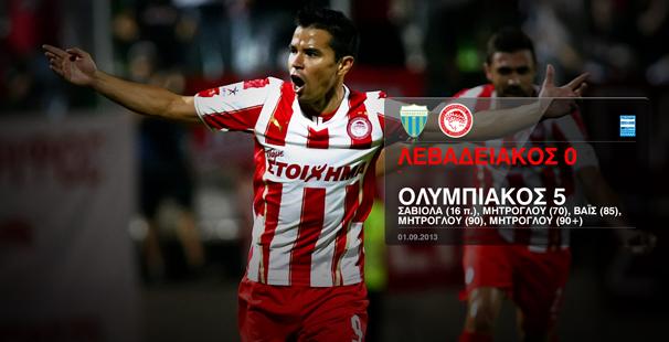 Levadiakos – Olympiacos 0-5