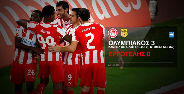 Olympiacos – Ergotelis 3-0