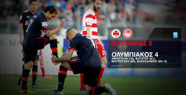 Platanias – Olympiacos 0-4