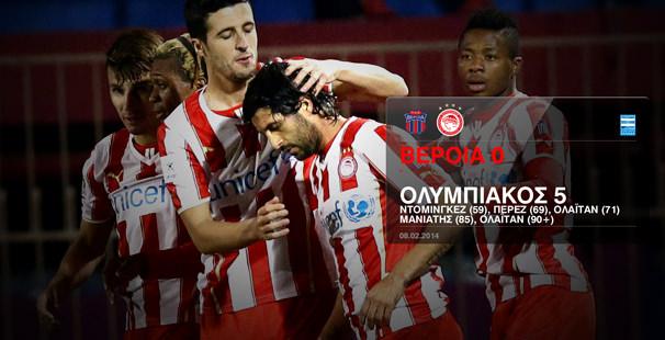 Veria – Olympiacos 0-5