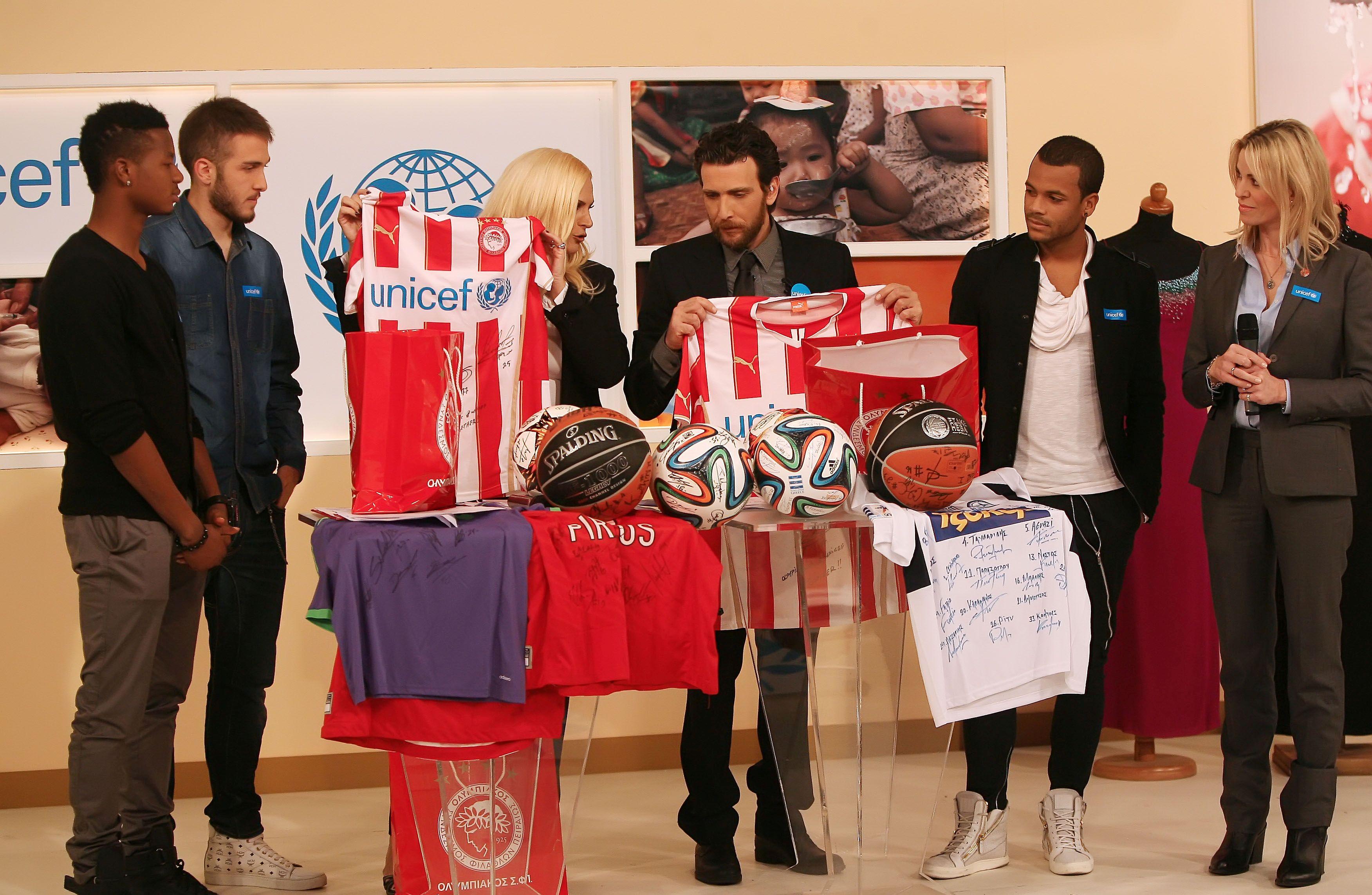 Olympiacos participates in the UNICEF Telemarathon