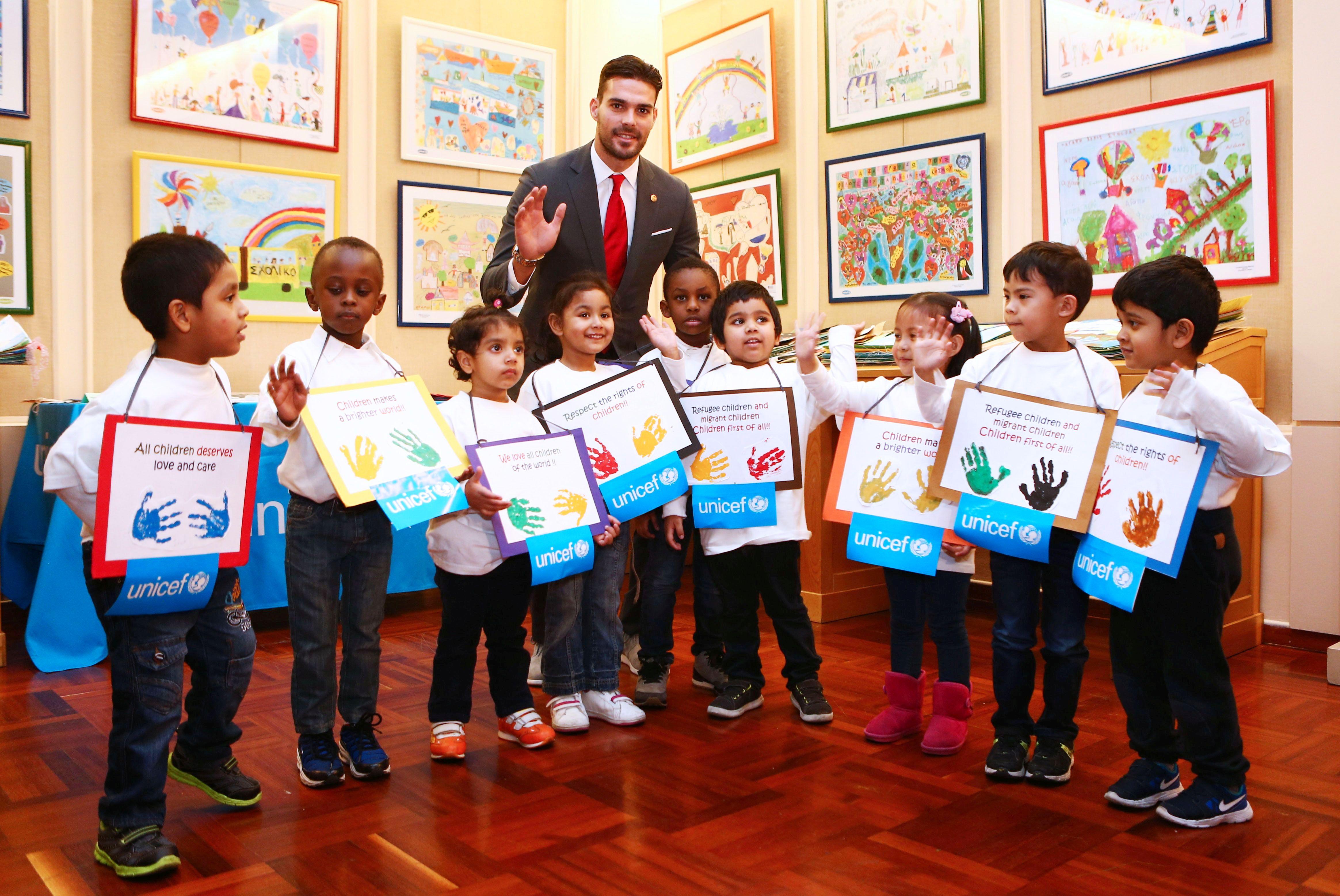 L'Olympiacos et l'UNICEF ont récompensé les enfants !