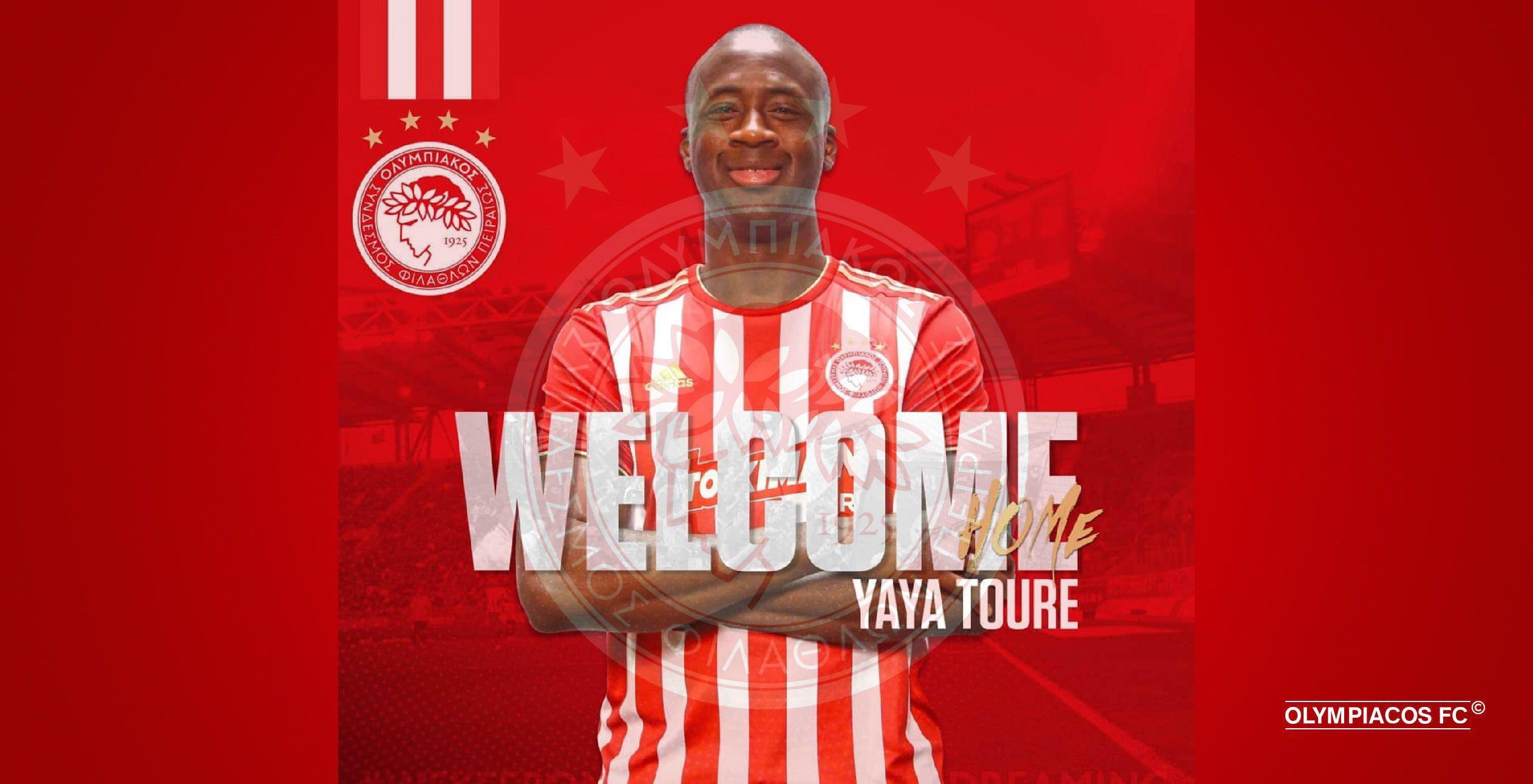 Yaya Toure returns to Olympiacos!