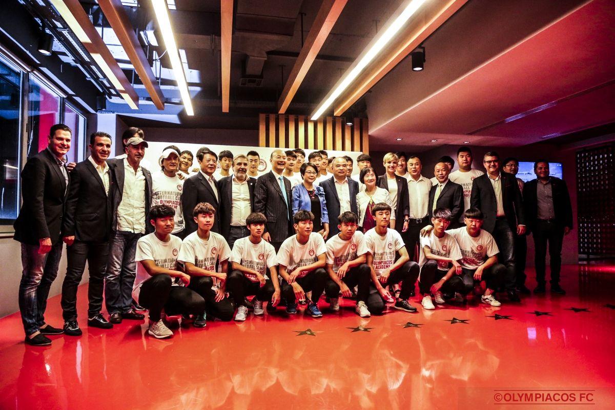 Official dinner and friendly match against Beijing Enterprise FC U17