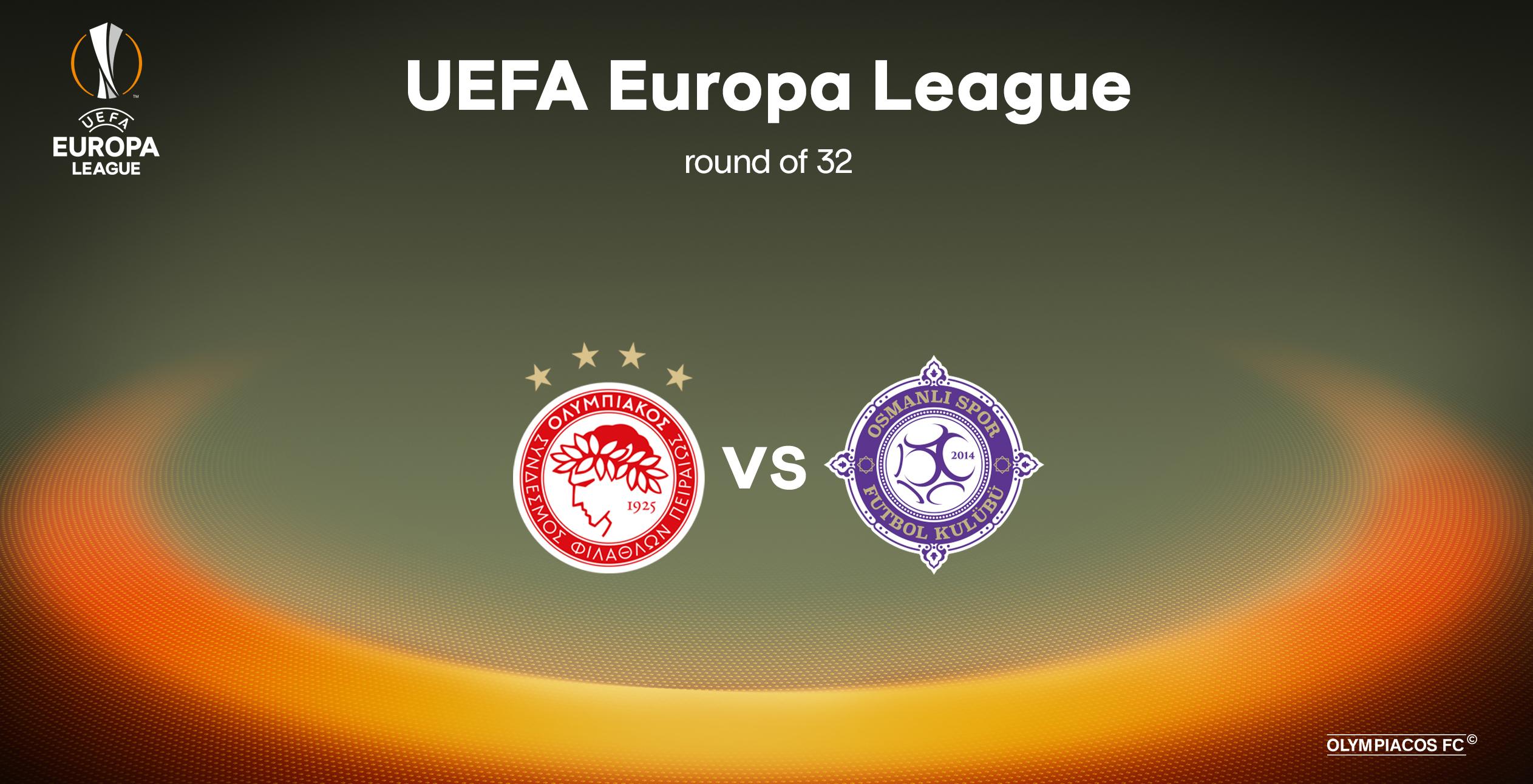El Olympiacós frente al Osmalispor en la UEFA Europa League