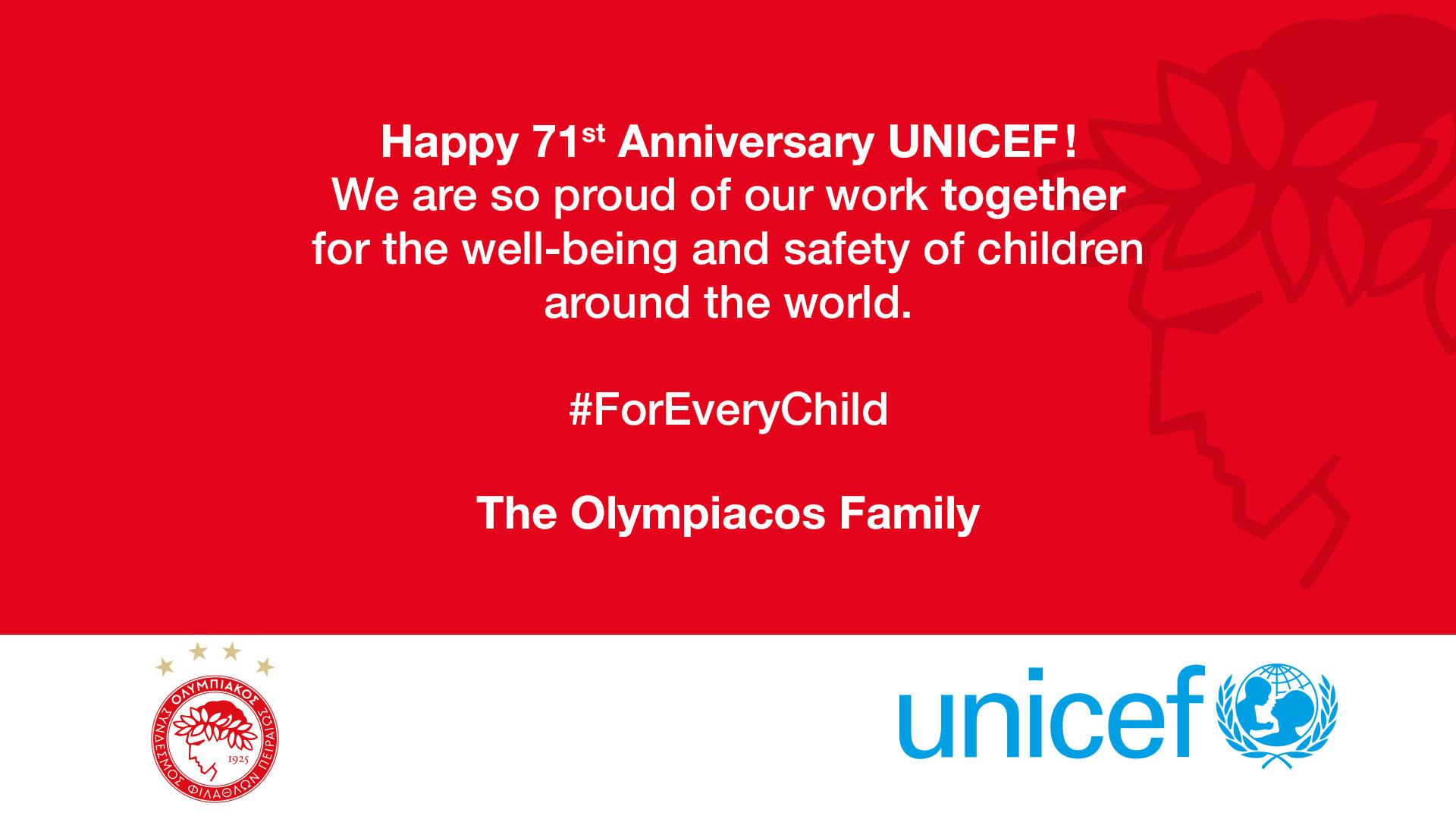 Joyeux anniversaire UNICEF