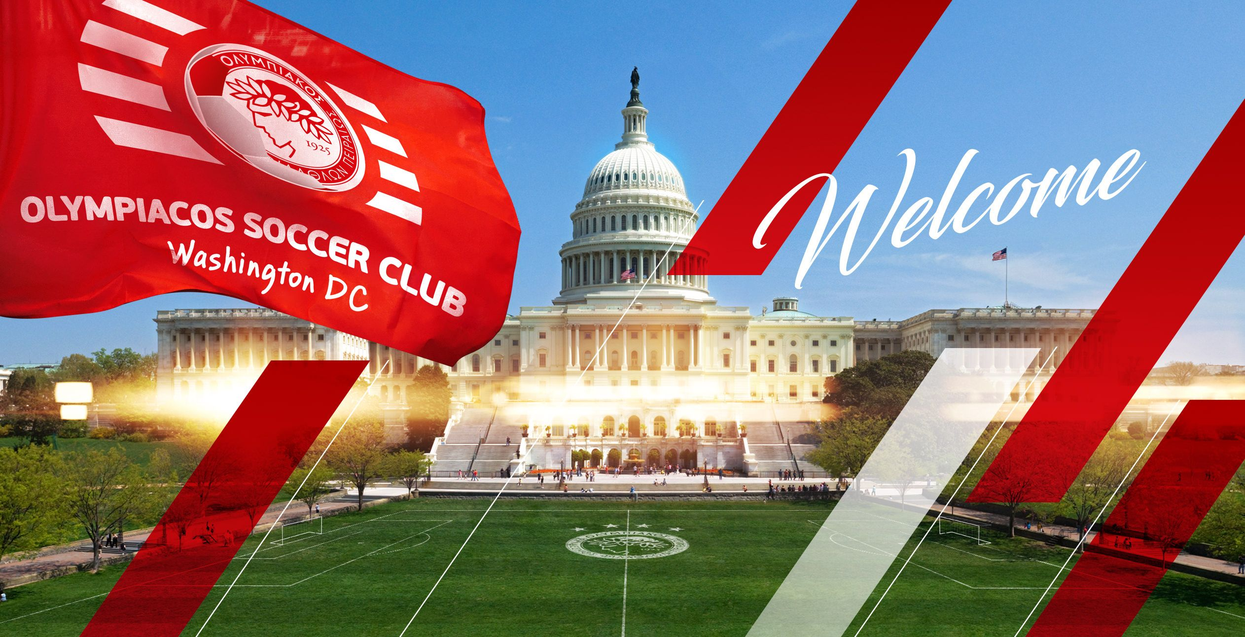 The heart of Olympiacos beats strong in the US capital!