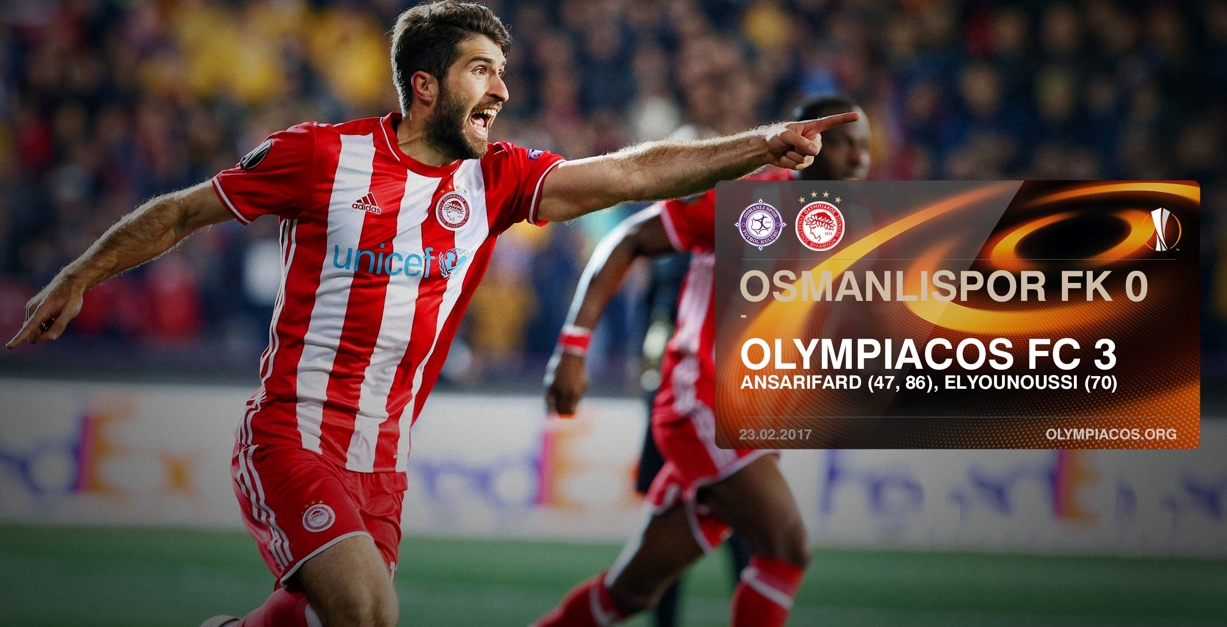 Olympiacos cruising through to the UEFA Europa League last-16!