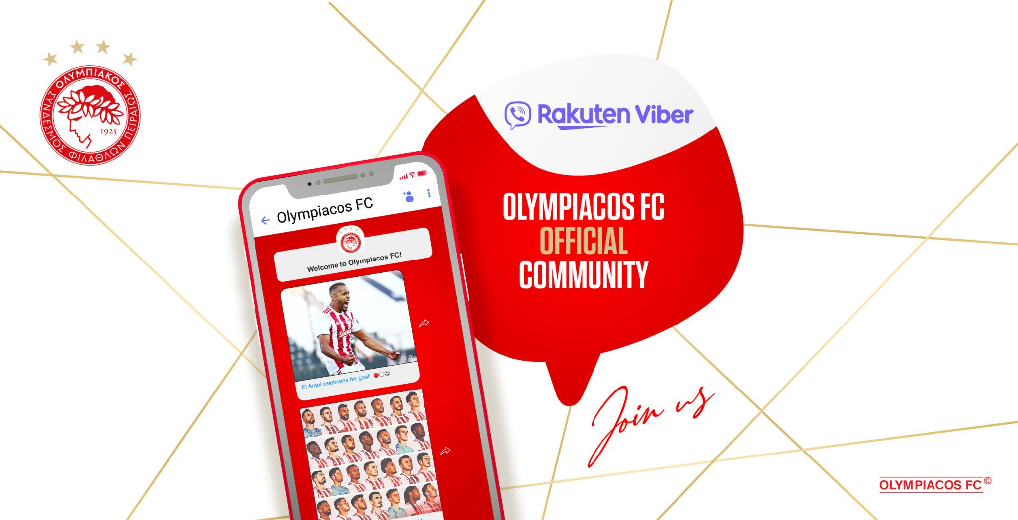 The Official Olympiacos FC Community on Viber!