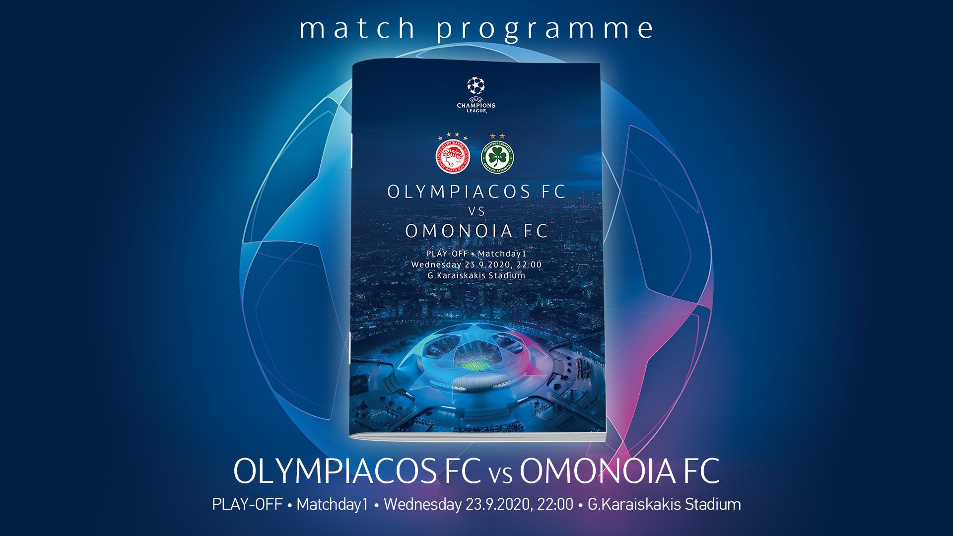 Match Programme Ολυμπιακός-Ομόνοια