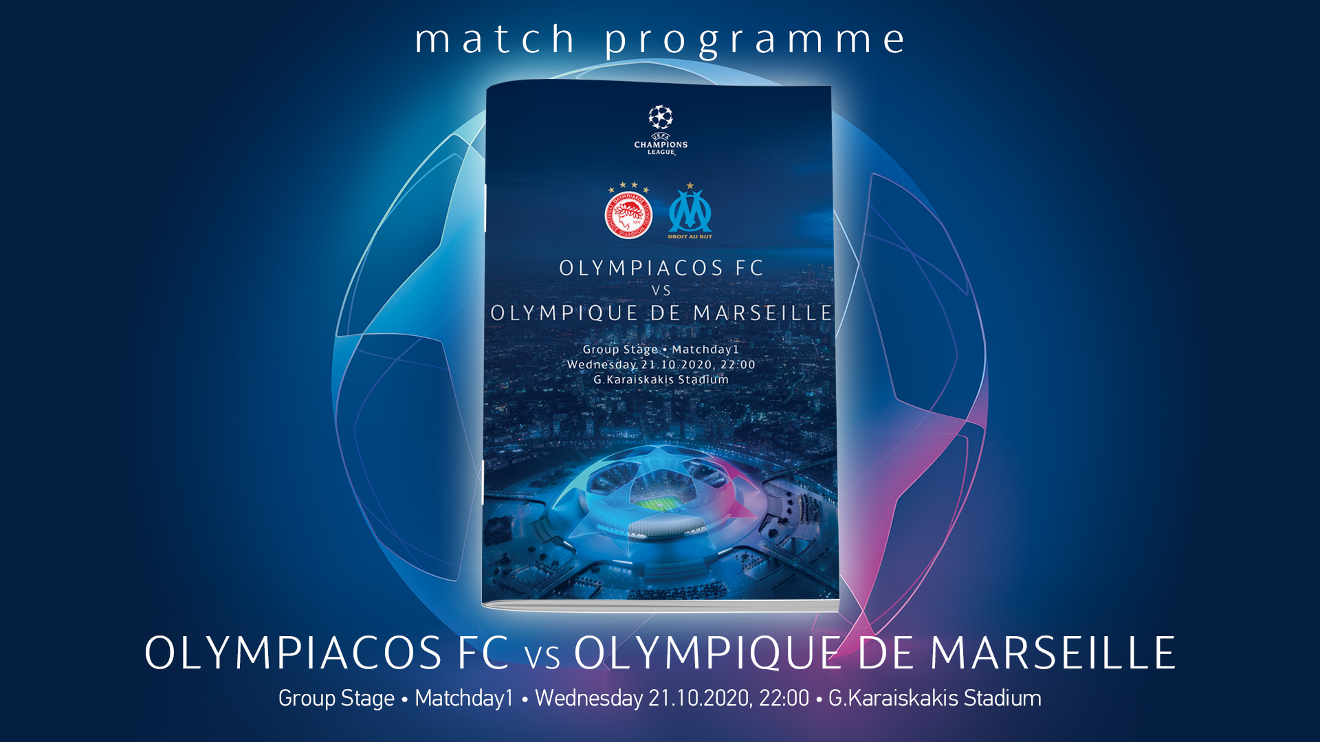 Match Programme Olympiacos-Olympique de Marseille