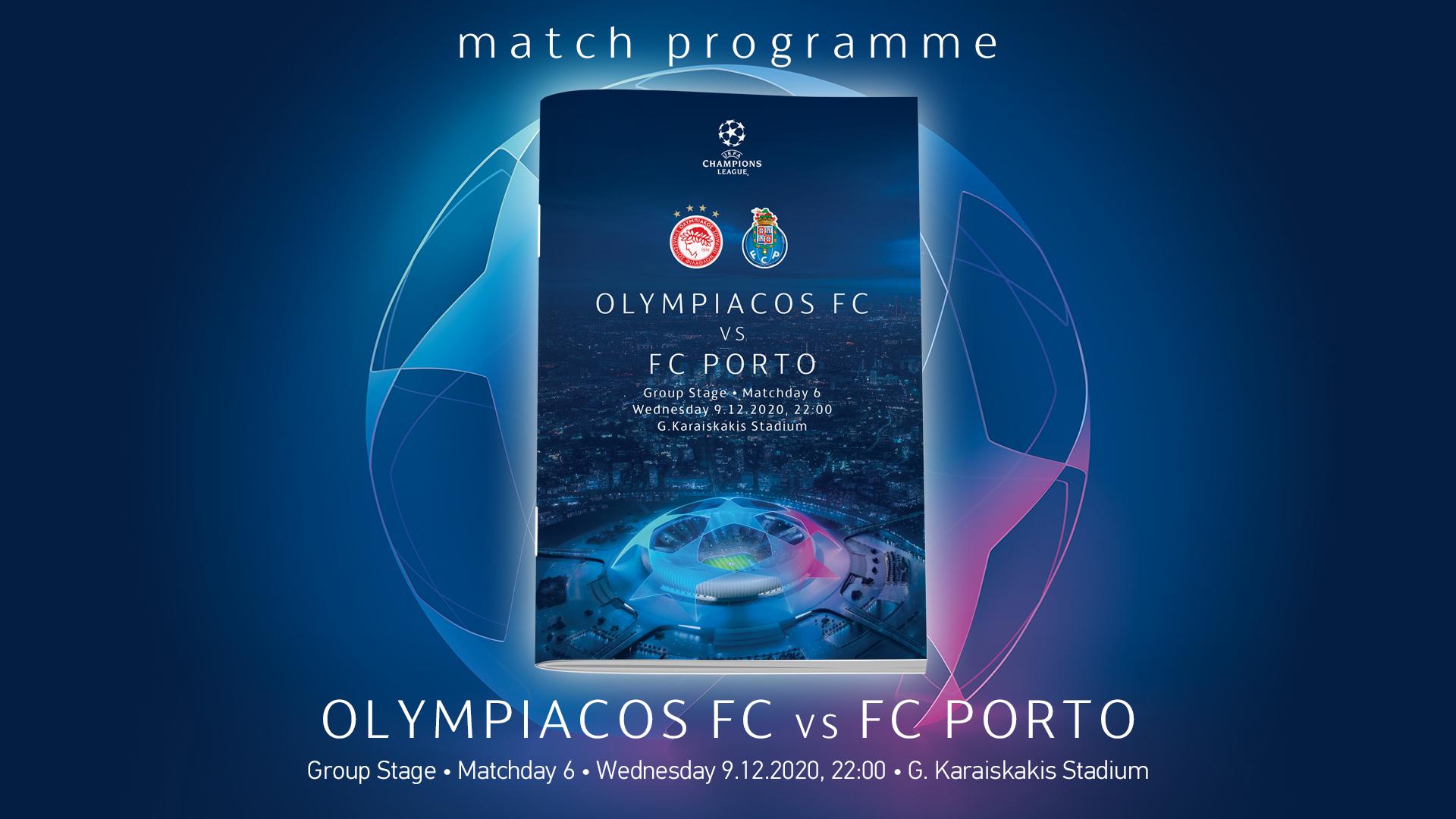 Match Programme Ολυμπιακός-Πόρτο